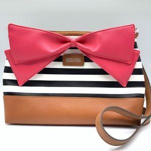 Kenneth Cole Crossbody Purse Large Pink Bow Stripe